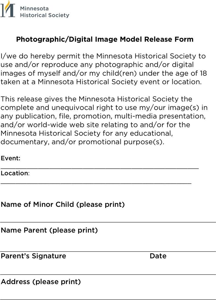 Minnesota Model Release Form 1