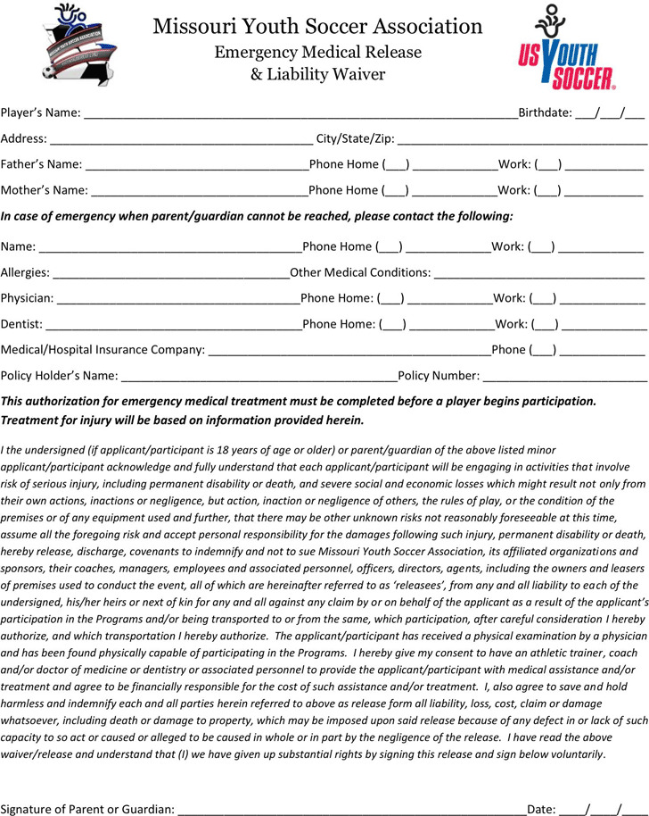 Missouri Medical Release Form  Download Free  Premium Templates