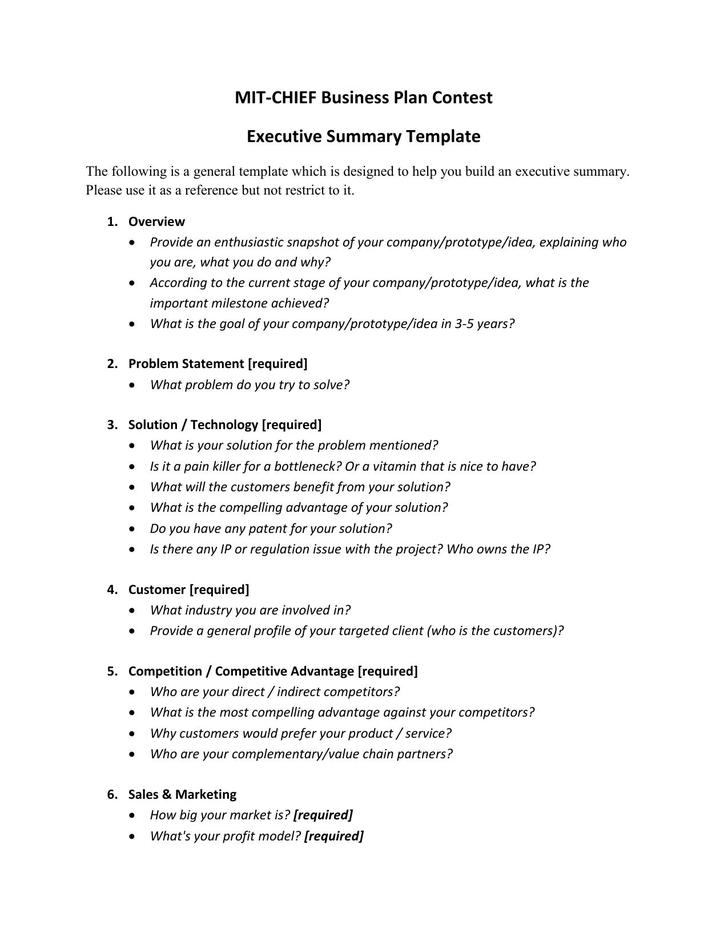 Executive Summary Template  Download Free  Premium Templates