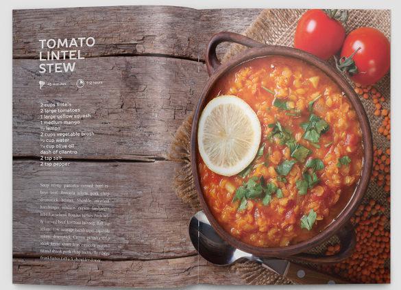 Cookbook Template Download Free Premium Templates Forms - Indesign recipe book template