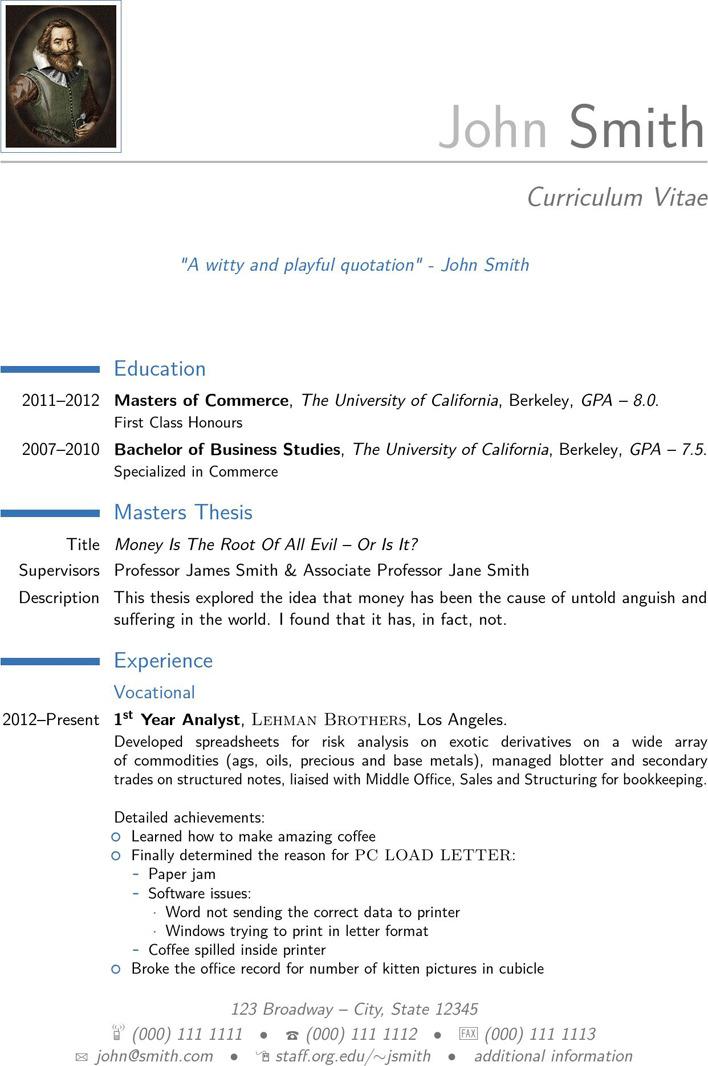 Modern CV Sample