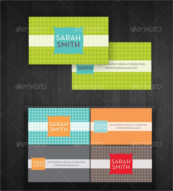 Modern Dots Business Card Template