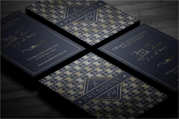 Modern Gold Foil Business Card