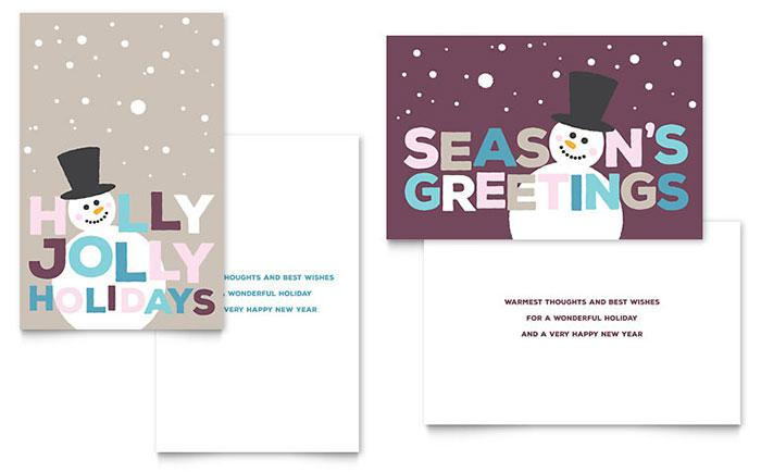 Modern Holiday Greeting Card Template
