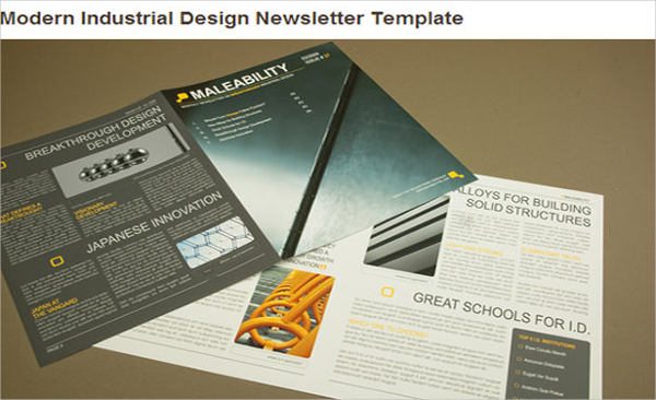 Modern Industrial Design Newsletter Template