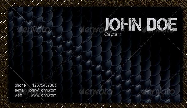 Modern Military Business Card