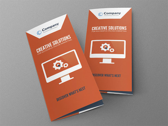 Modern Online PSD Marketing Brochure Template