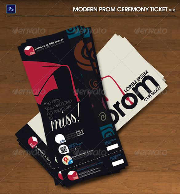 Modern Prom Ceremony PSD Ticket
