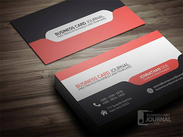 Modern Tab Design Business Card Template