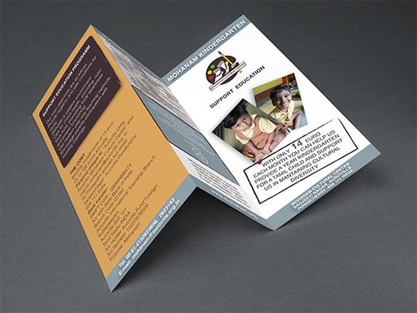 Kindergarten Brochure Templates – Kindergarten Brochure Template