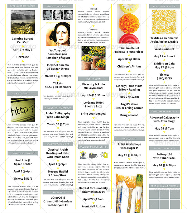 Moroccan Spring Fold Out Newsletter