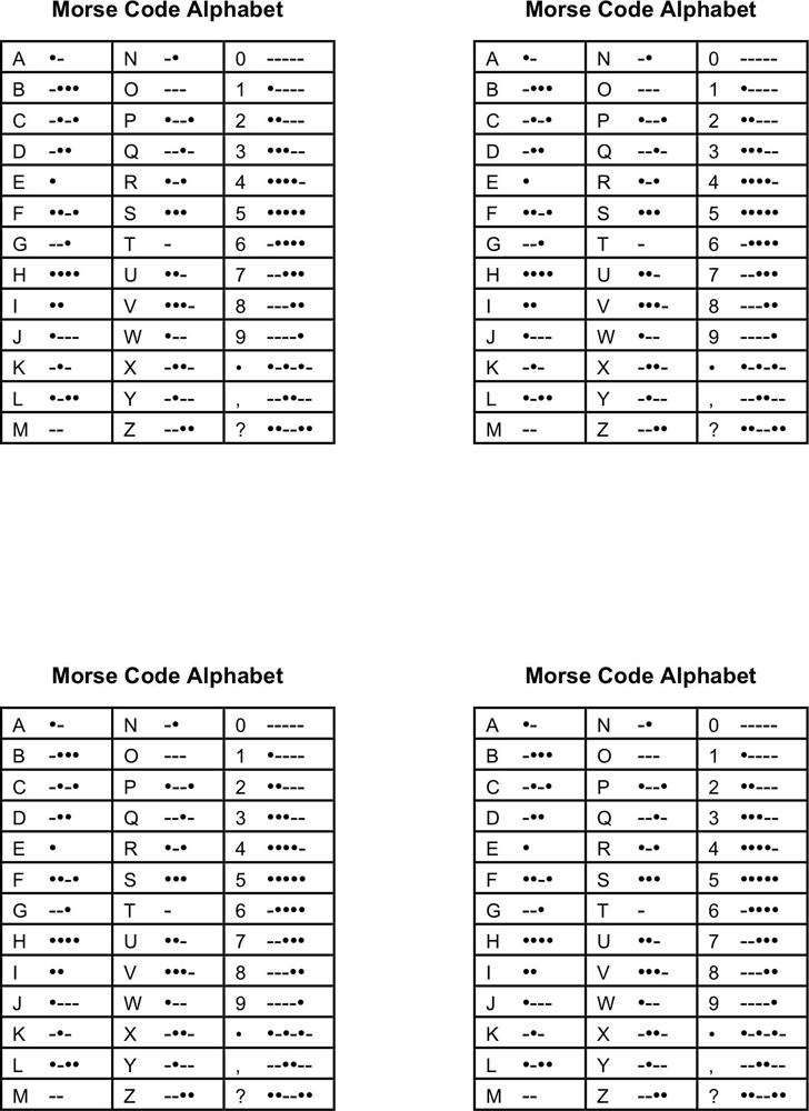 Morse Code Chart | Download Free & Premium Templates, Forms
