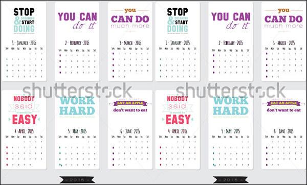 Motivational Calendar Template