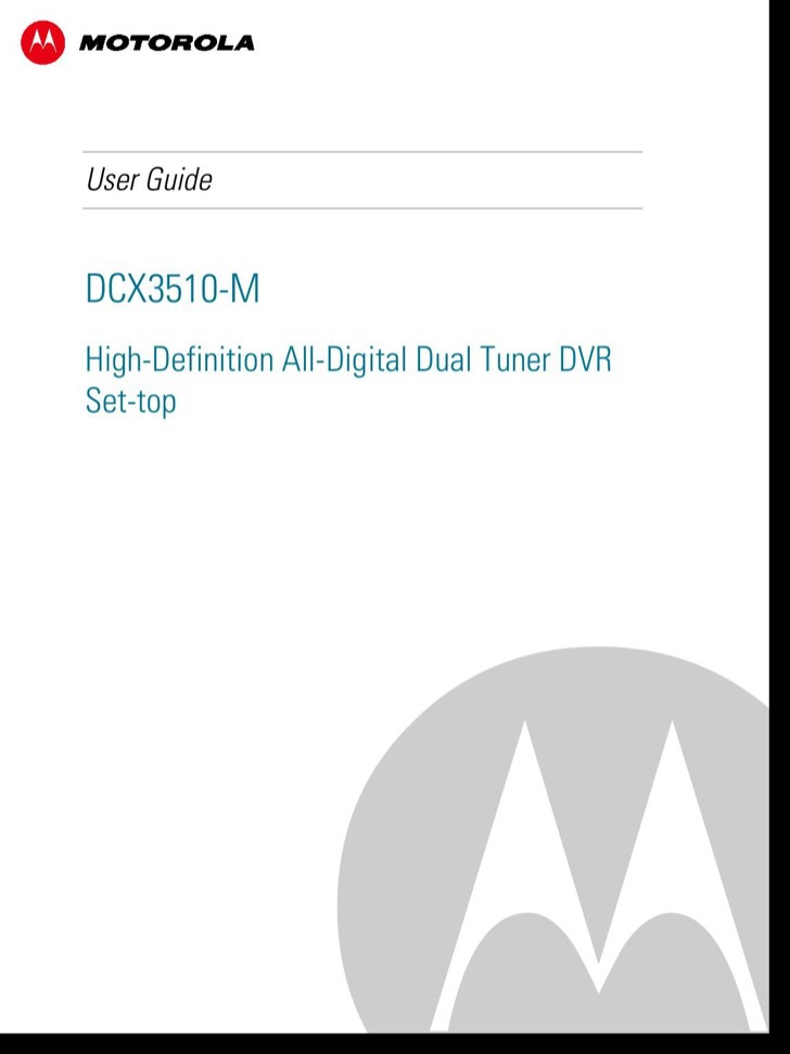 Motorola User's Manual Sample