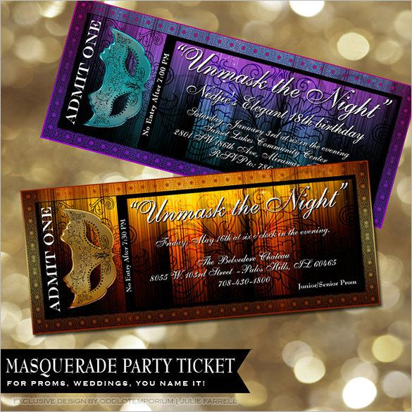 Movie Prom Ticket Template