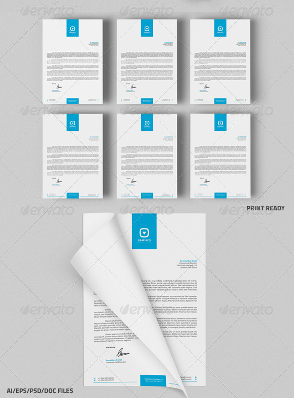 MS Word DOC DOCX Letterhead Template