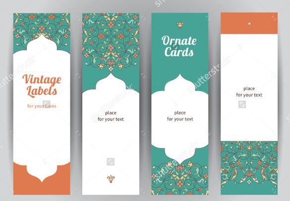 Multipurpose Blank Bookmark Template