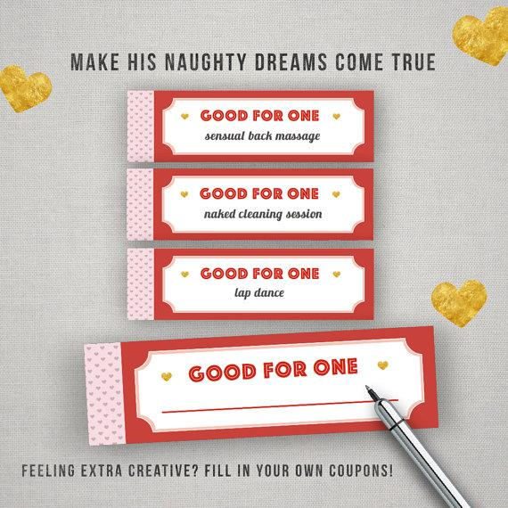 Naughty Sample Coupon Book Template