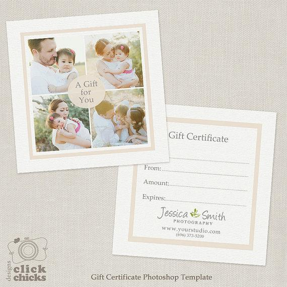New Born Photography Gift Certificate Download