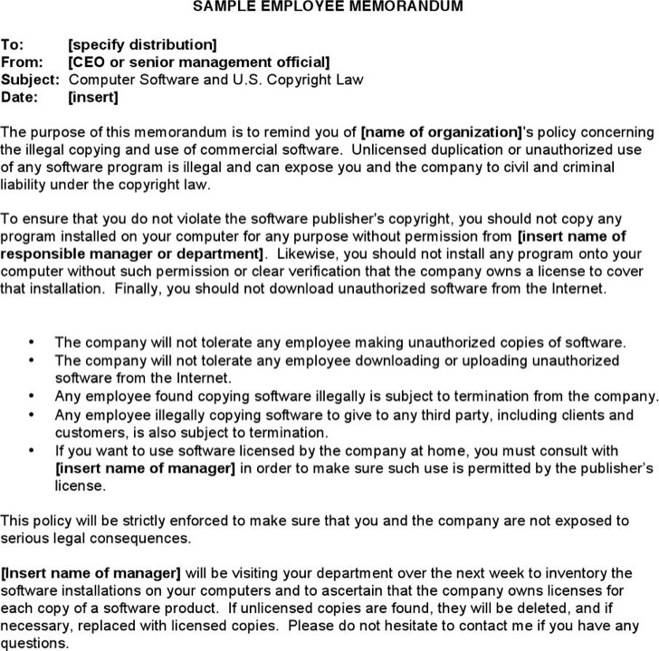 Company Memorandum Template  BesikEightyCo