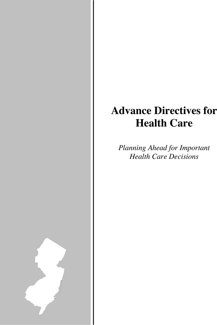 New Jersey Advance Directives For Health Care