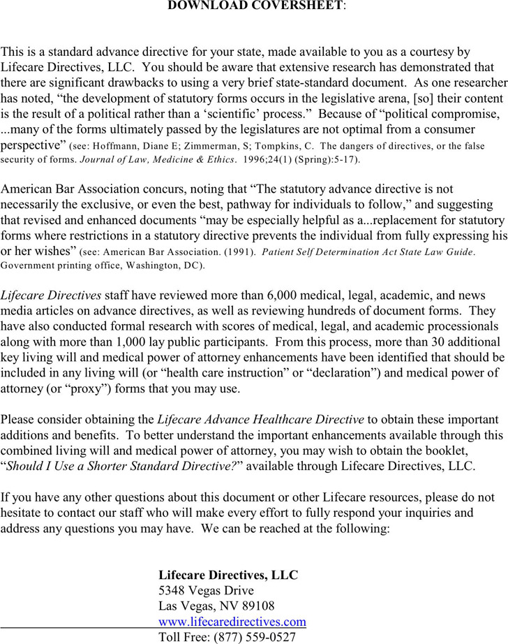 New Mexico Advance Directive Form