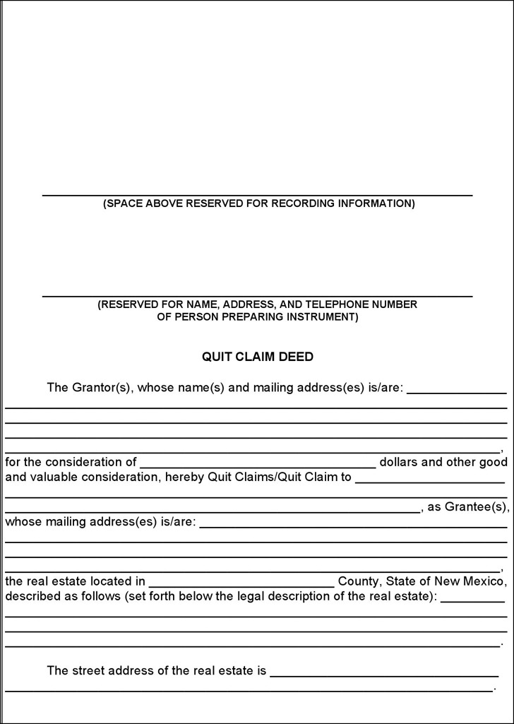 Quit Claim Deed Template Word Fabulous Colorado Quitclaim Deed Form