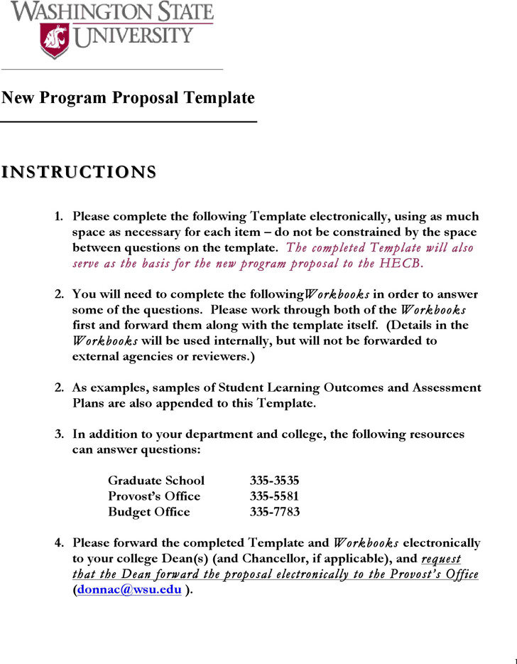 Program Proposal Template Download Free Premium Templates Forms