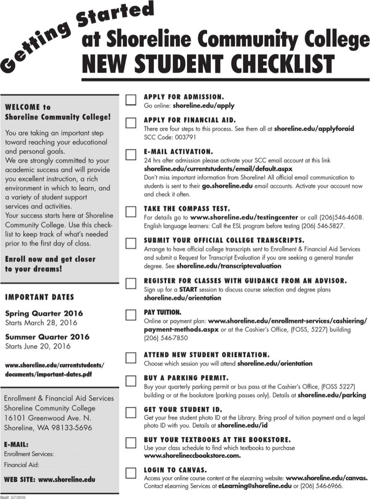 Student Checklist Templates | Download Free & Premium Templates ...
