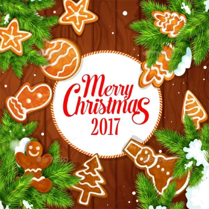 New Year & Christmas Greeting Cards Template