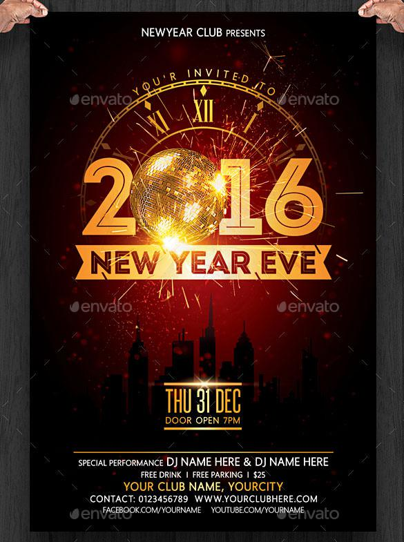 16+ New Year Invitation Templates Free Download