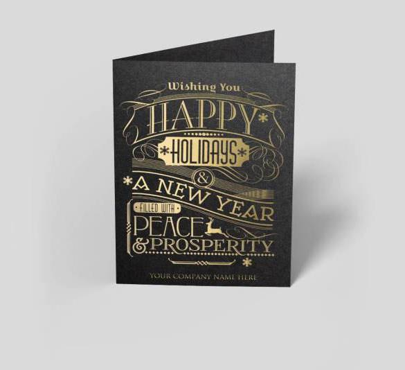 New Year Gatsby Greeting Card Template Download