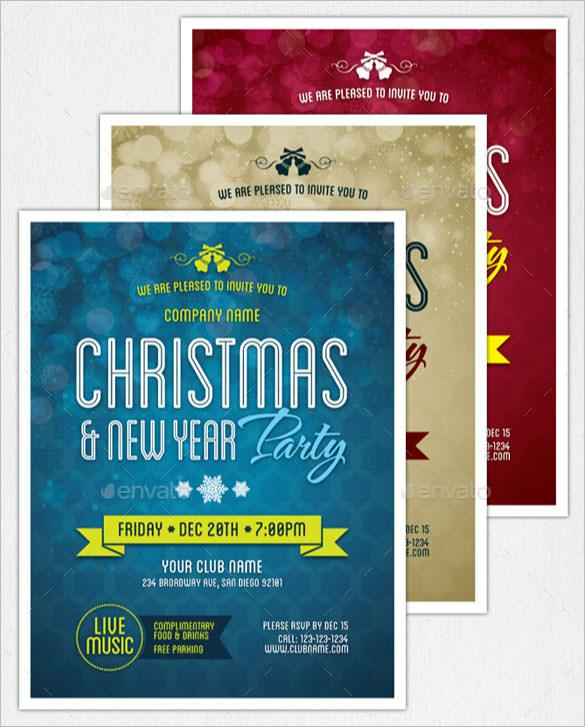 New Year Party Flyer & Invitation Template EPS Format