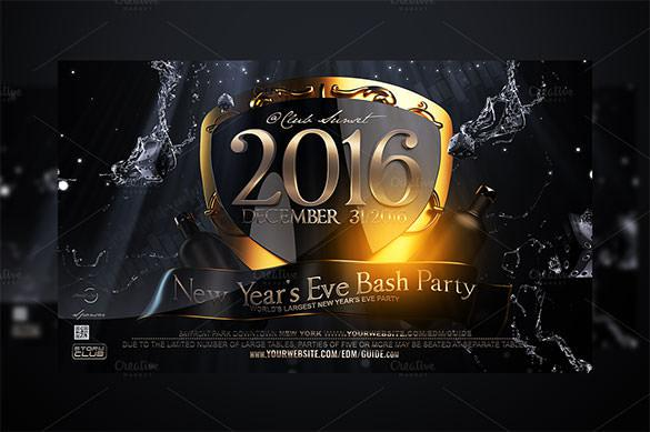 New Years Eve Flyer Template Premium PSD Download