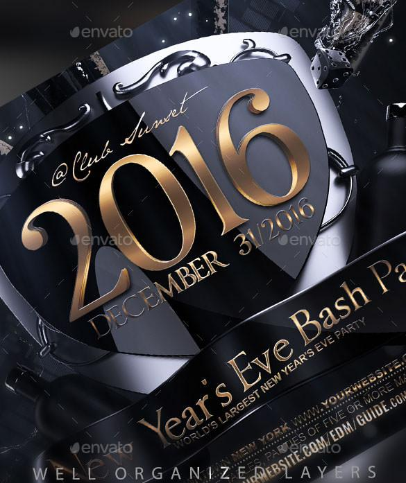 New Years Eve Flyer Template PSD Download