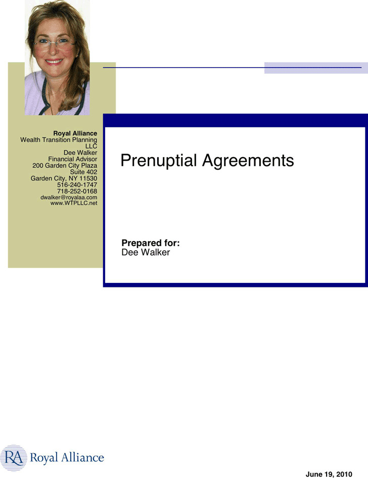 New York Prenuptial Agreement Sample