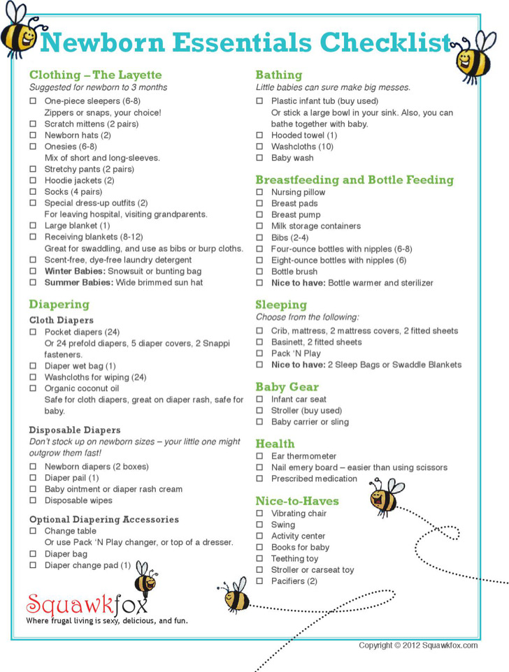 Newborn Baby Boy Essential Registry Checklist