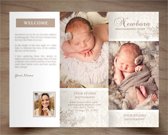 Newborn Photography Trifold Brochure Template Download