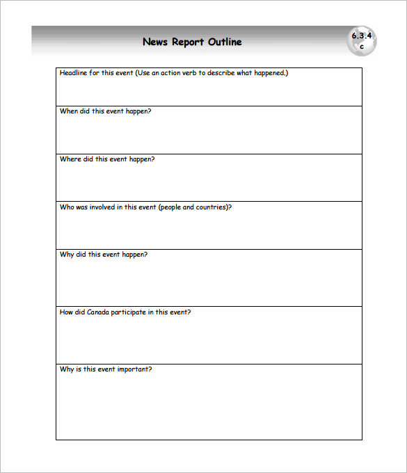 Report Outline Template | Download Free & Premium Templates, Forms