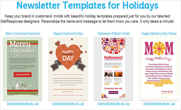 Newsletter Templates for Holidays