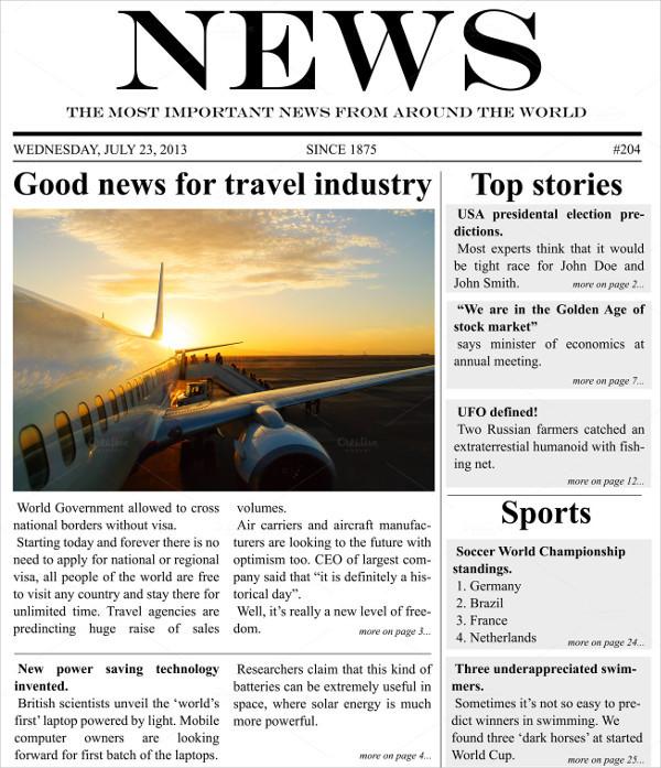 Newspaper Templates Download Free Amp Premium Templates