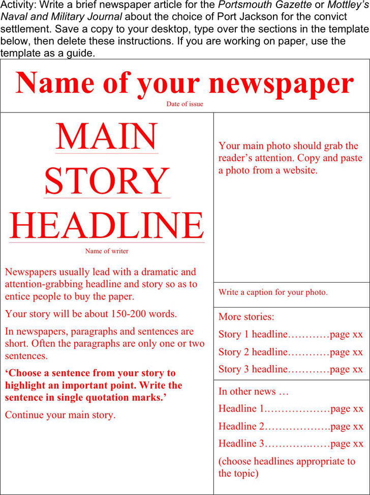 Newspaper Template Download Free Premium Templates Forms