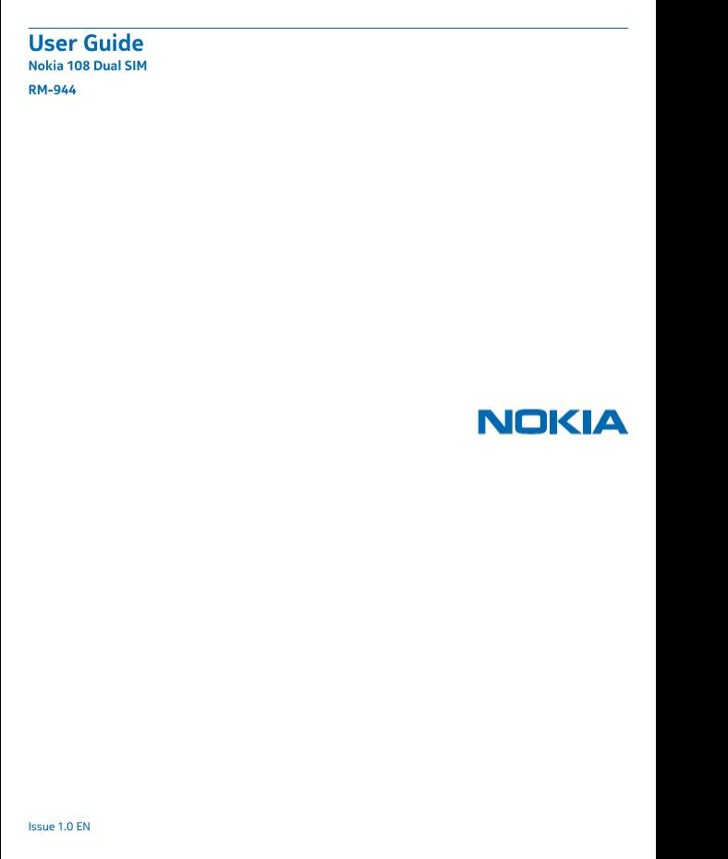 Nokia User's Manual Sample