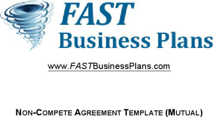 Business Non Compete Agreement Non Compete Agreement Sample Pdf