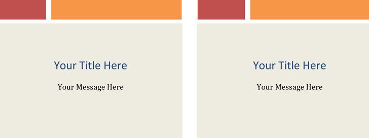 Note Cards (Colored Blocks Design, 2 Per Page)