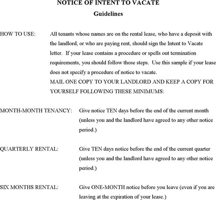 Notice of Intent to Vacate | Download Free & Premium Templates ...