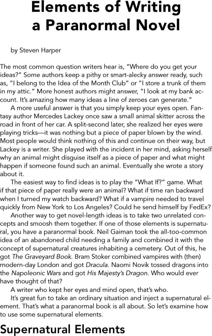Novel Book Writing Template Example
