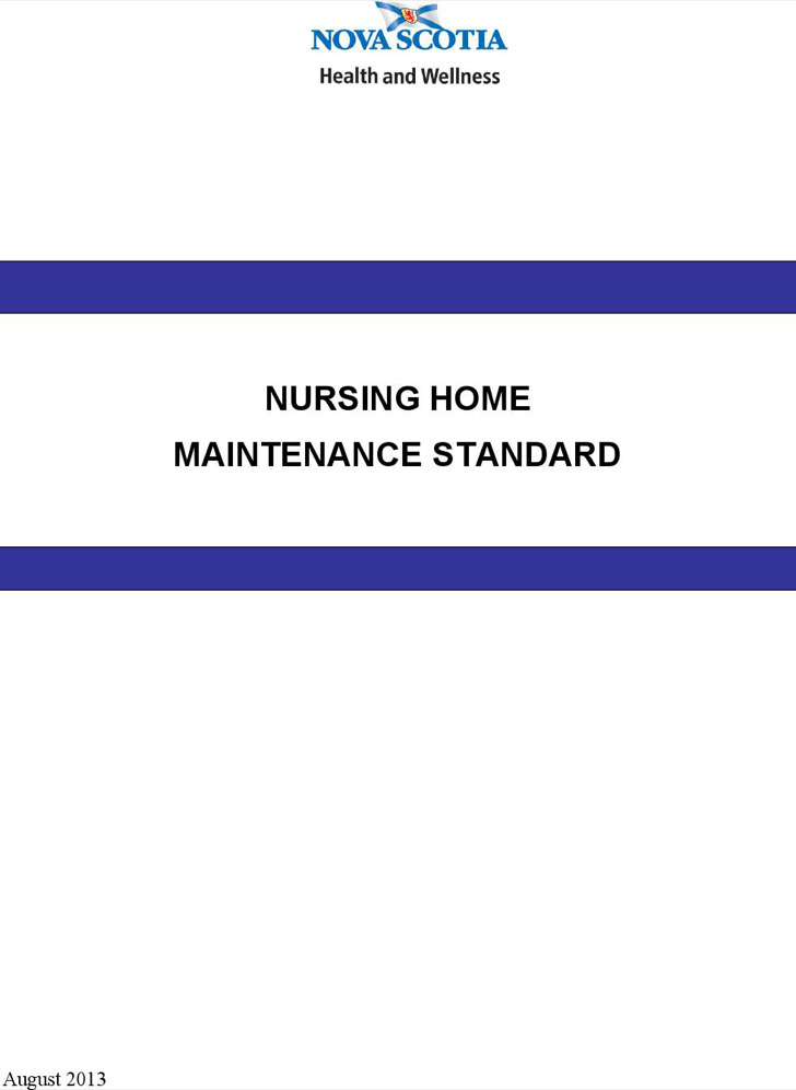 Nursing Home Building Maintenance Log Template