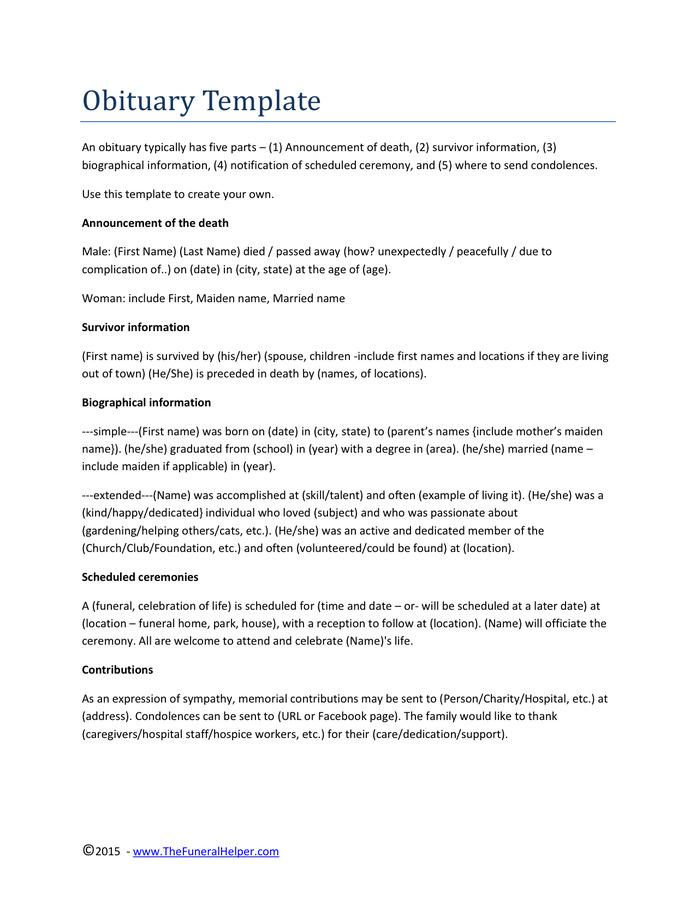 Downloadable Death Certificate Template, Sample, Examples and  Formats