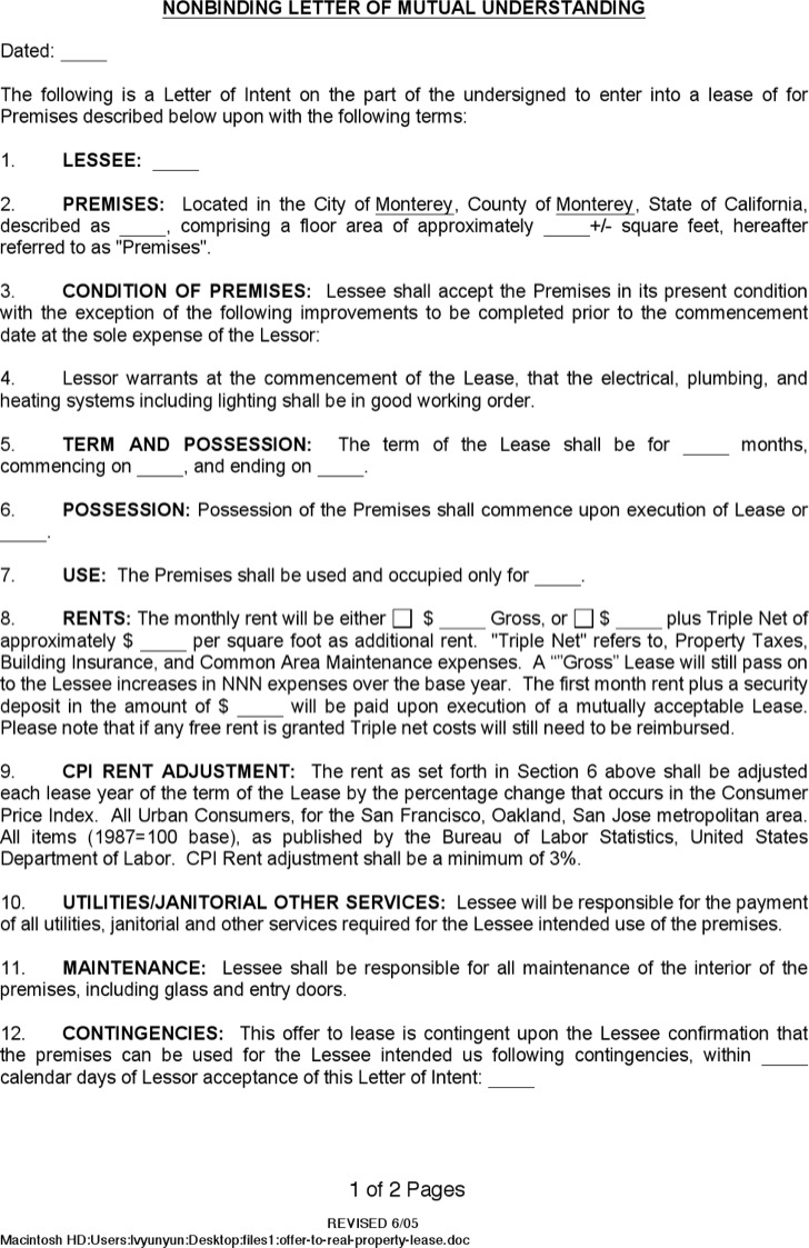 Doc12751650 House Rental Lease Template House Lease Agreement – Rental Lease Template Word